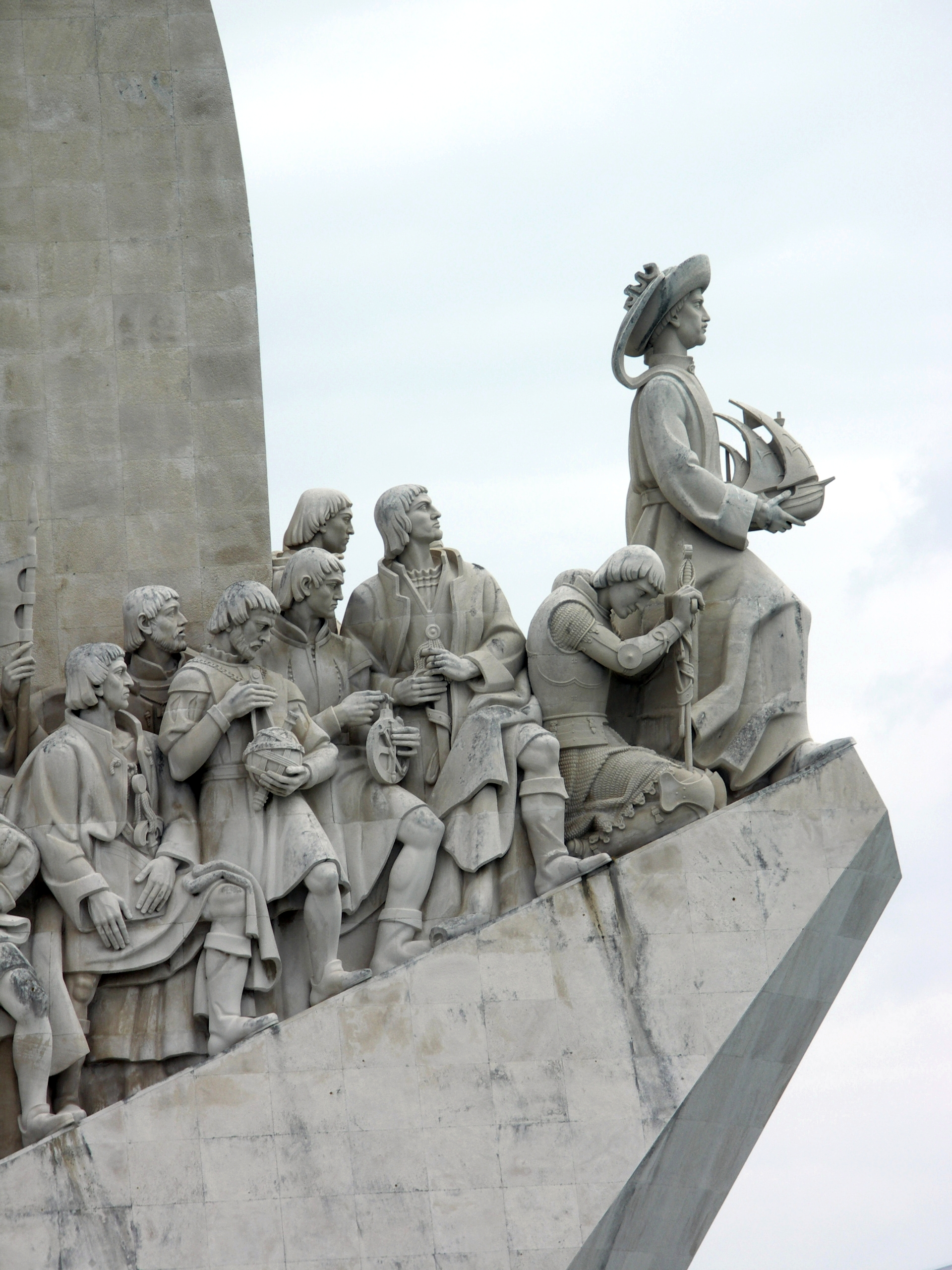 henry the navigator in the age of exploration  monument to the portuguese maritime discoveries detail lisbon
