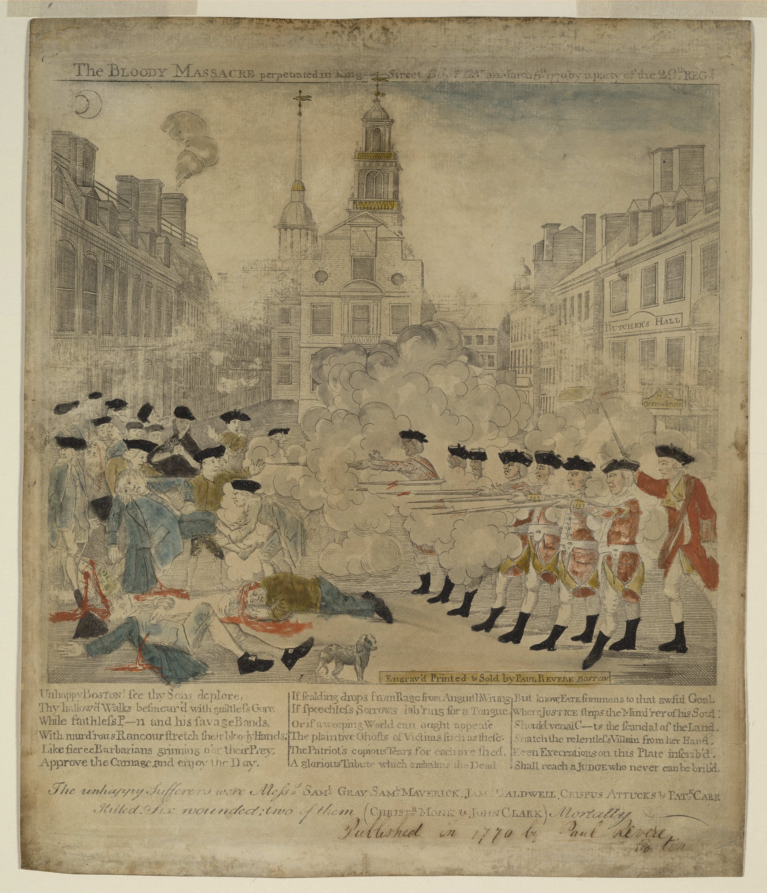 the boston massacre was britain s fault writework the print was copied by revere from a design by henry pelham for an engraving eventually
