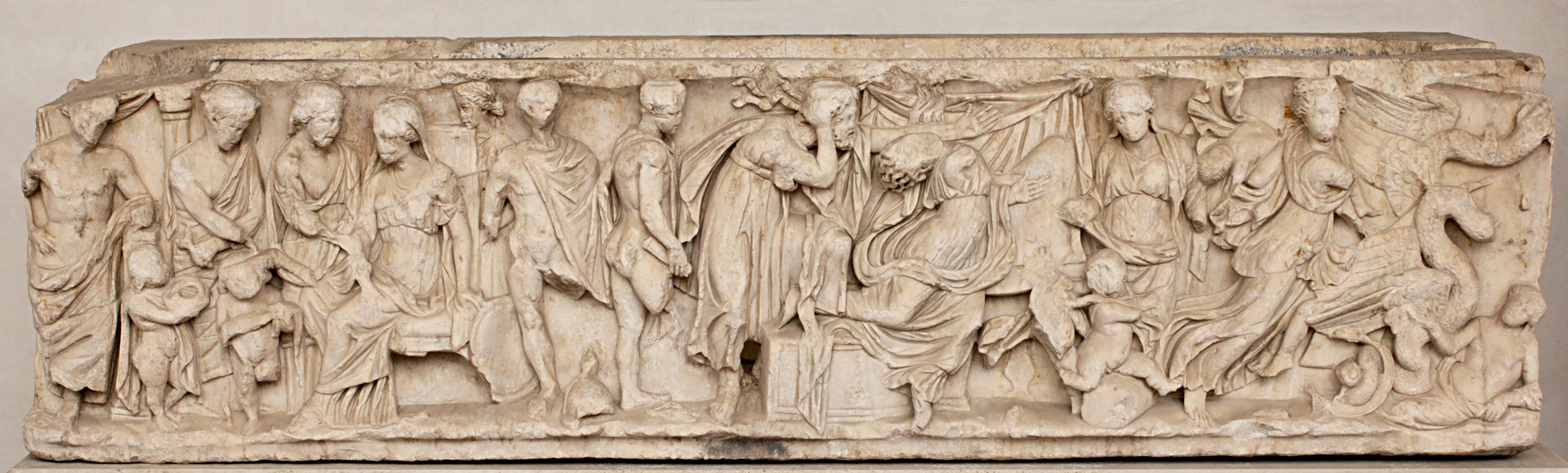 medea  sarcophagus scenes from the myth of medea the sending of gifts to creusa