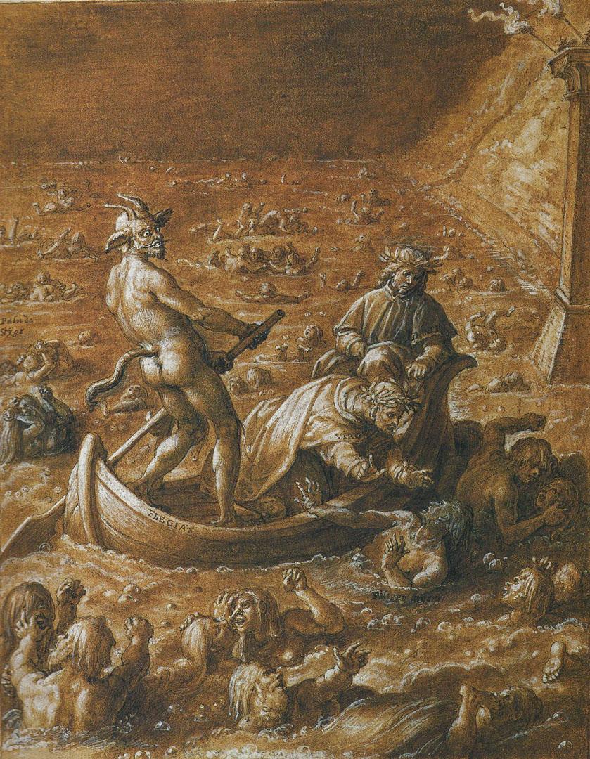 Illustration Of Dantes Inferno Canto 8
