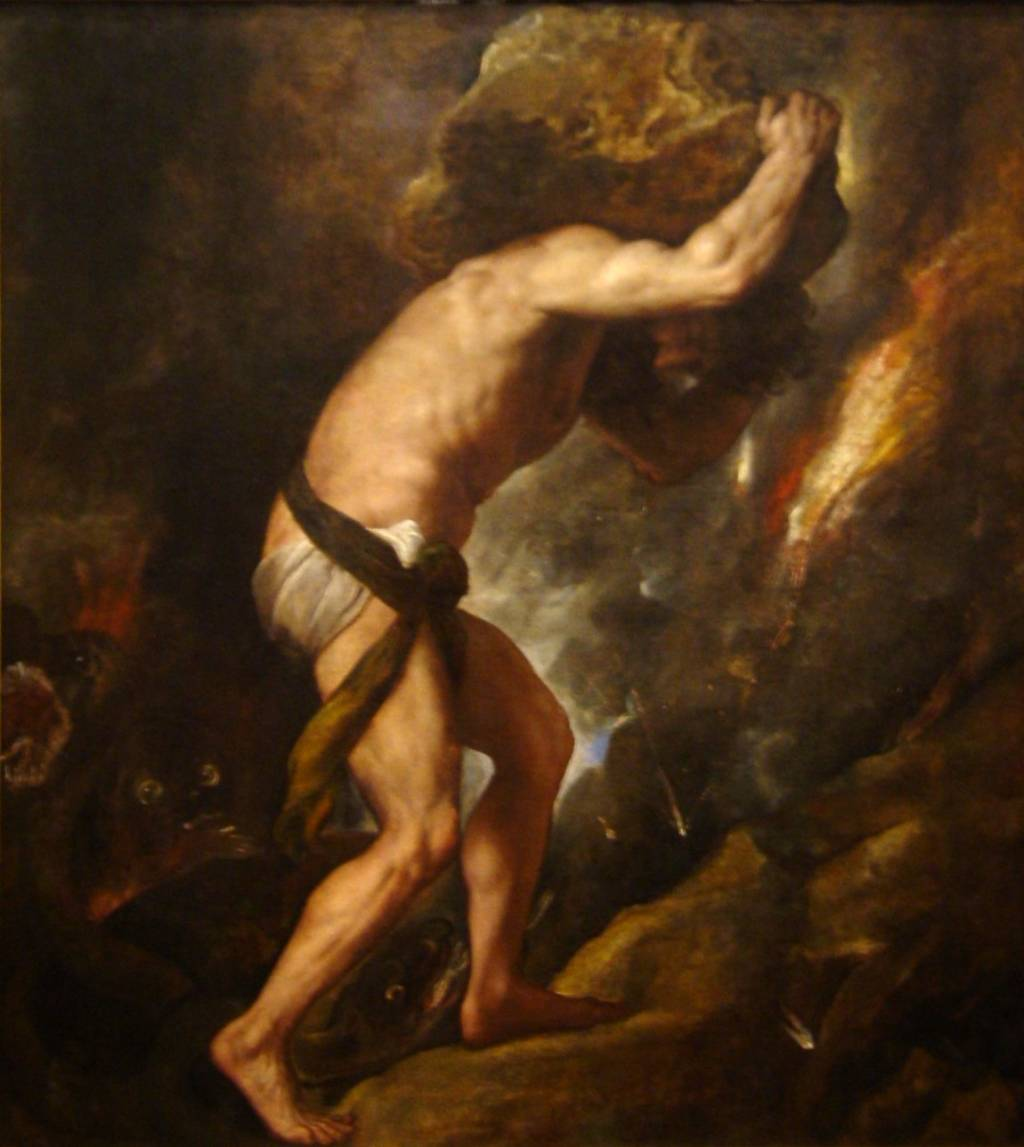 a comparison between the myth of sisyphus by albert camus and  sisyphus by titian 1549
